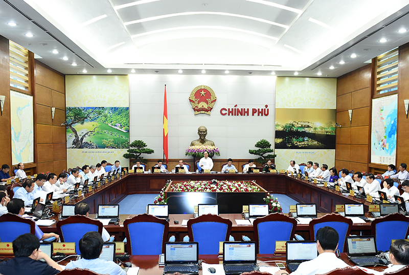 Toàn cảnh phiên họp Chính phủ thường kỳ tháng 8-2016