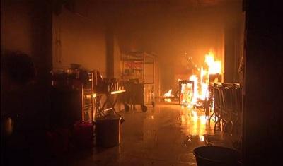 Hiện trường thời điểm xảy ra vụ cháy (ảnh PCCC)