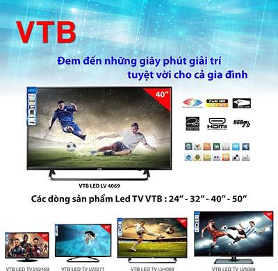 Tivi Led VTB LV4069 với kiểu dáng sang trọng