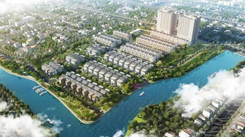 Phối cảnh khu đô thị cao cấp Jamona Golden Silk nhìn từ cầu Phú Mỹ