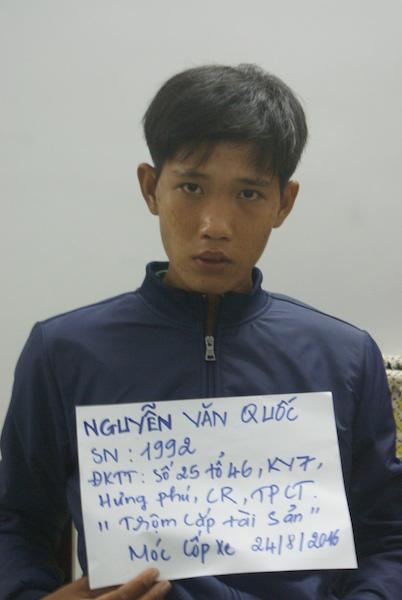 Đối tượng Nguyễn Văn Quốc. Ảnh: Công an cung cấp