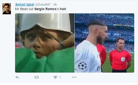 CĐV này bình luận: Có lẽ Mr Bean đã cắt tóc cho Ramos