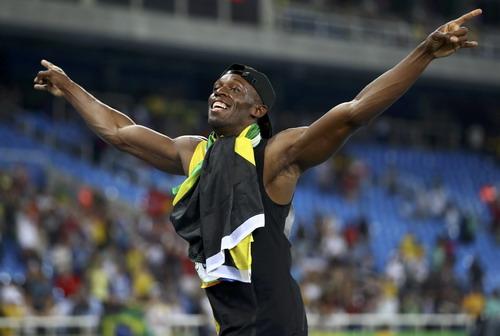 Hình ảnh Bolt đã đi vào lịch sử điền kinh Olympic