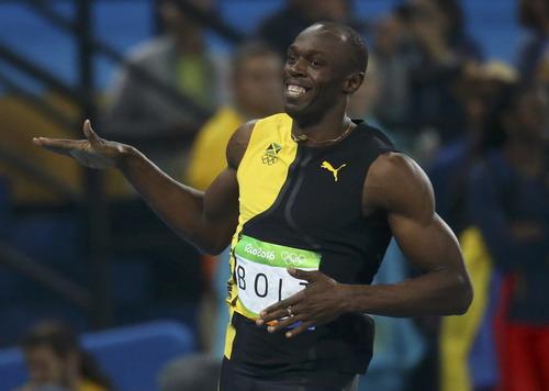 Hình ảnh ăn mừng chiến thắng quen thuộc chưa thấy ở Usain Bolt