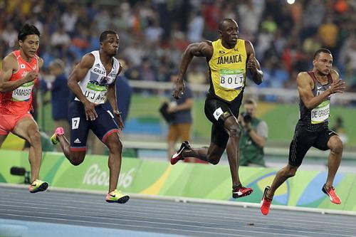 Usain Bolt ở đợt chạy bán kết