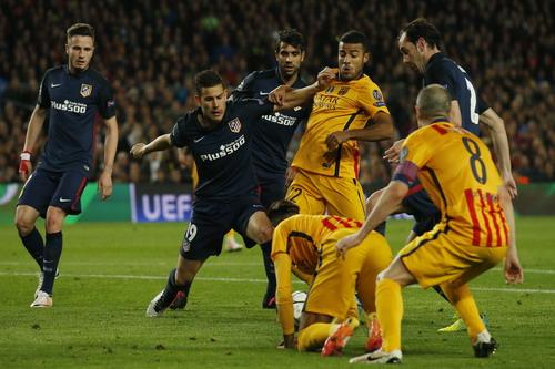 Atletico tạm thất thế sau trận tứ kết lượt đi trước Barcelona