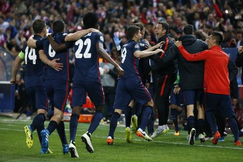 Niềm hạnh phúc của Atletico lần thứ nhì vào bán kết Champions League