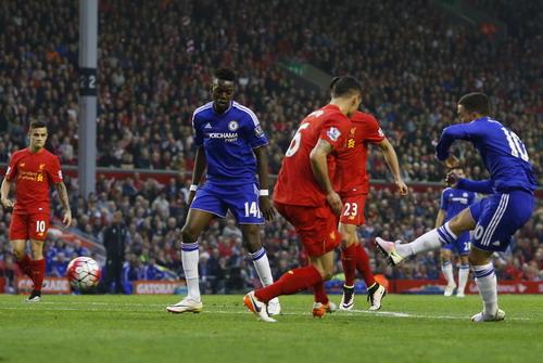 Eden Hazard thi đấu rất hay với bàn mở tỉ số phút 32 cho Chelsea