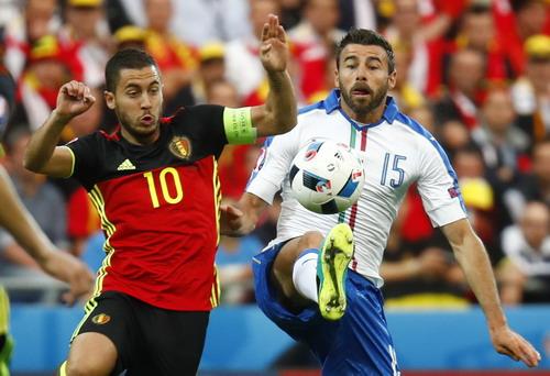Hàng tấn công cực mạnh của Bỉ áp đảo trước các hậu vệ Ý
