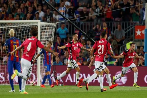 Ibai Gomez (11) và đồng đội mừng bàn thắng quyết định