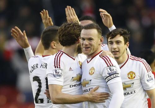 Niềm vui của đội khách Man United