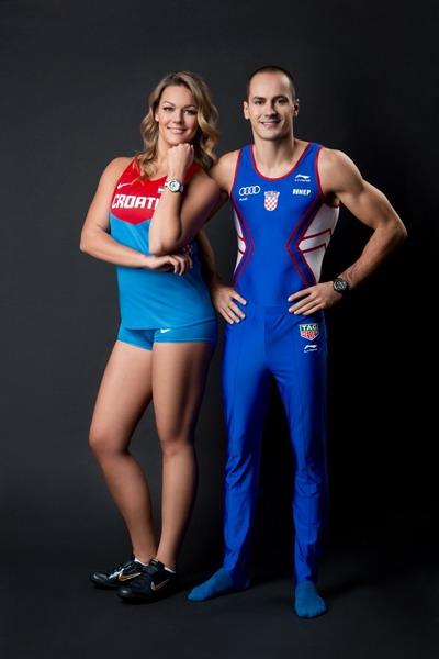 Người mẫu trang phục đoàn thể thao Croatia tại Olympic Rio