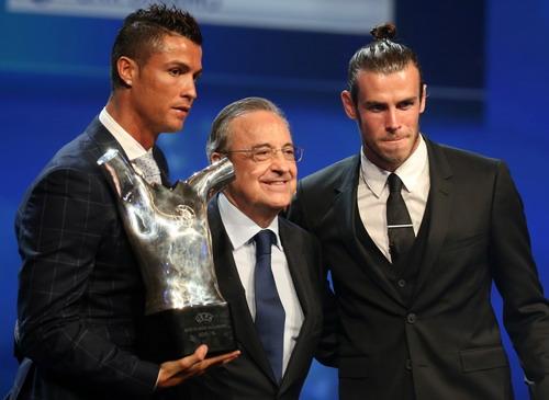 Ông bầu Perez hạnh phúc bên cạnh hai ngôi sao sáng nhất châu Âu
