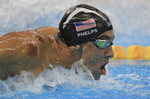 Michael Phelps tràn đày quyết tâm trên đường đua