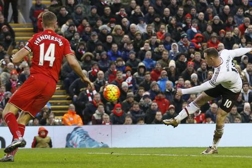 Henderson bất lực trước pha ghi bàn của Rooney