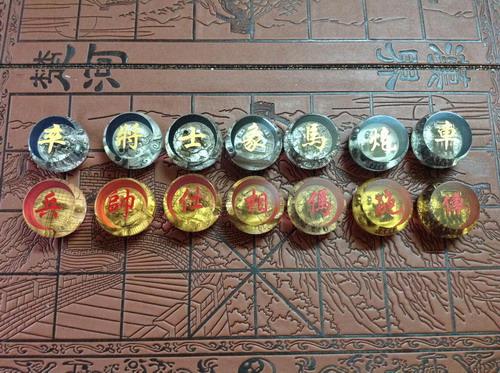 Bộ bàn và quân cờ Hán Sở tranh bá có in hình chạm 3D