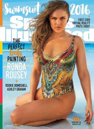 Ronda Rousey cũng biến cơ thể thành tác phầm nghệ thuật