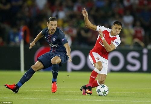 Alexis Sanchez giành lại 1 điểm cho Arsenal tại Paris