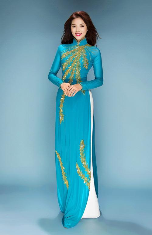 Hoa hậu Kỳ Duyên duyên dáng hơn khi diện áo dài