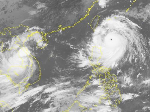 Hình ảnh mây vệ tinh của siêu bão Meranti - Nguồn: Trung tâm dự báo khí tượng thủy văn Trung ương