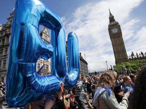 Người biểu tình ủng hộ ở lại EU tại London – Anh mới đây Ảnh: PA