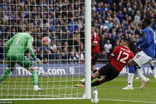 Cheis Smalling đá phản, giúp Everton gỡ hòa 1-1