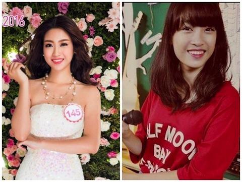 Mỹ Linh hiện tại (trái) và ảnh cô trước đây (phải). Ảnh: Internet