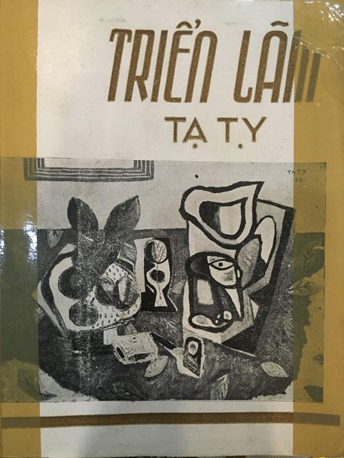 """Bìa cuốn sách """"Triển lãm Hội họa Tạ Tỵ"""" do Nha Thông tin Bắc Việt tổ chức, in ấn tại Hà Nội hồi tháng 12-1951, chứng minh họa sĩ Tạ Tỵ không có bức tranh """"Trừu tượng"""" thứ hai nào như bức tranh mạo danh cùng tên"""