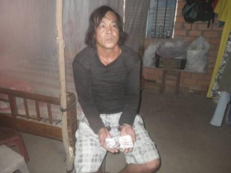 Nguyễn Thanh Tý bị công an bắt quả tang sau khi đi bán ma túy