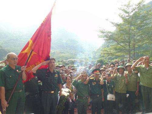 Các cựu binh tưởng nhớ đồng đội hy sinh trên chiến trường Thanh Thủy - Vị Xuyên ngày 12-7-1984
