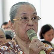 Bà Nguyễn Thị Nguyệt - cán bộ hưu trí phường Cô Giang, quận 1, TP HCM: