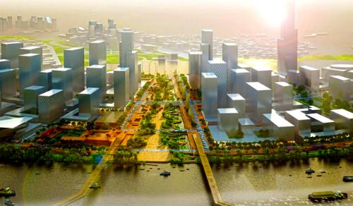 Đại lộ Vòng Cung trong Khu đô thị Thủ Thiêm sẽ là nơi tổ chức lễ duyệt binh có khí tài, xe hạng nặng tại TP HCM trong tương lai. Ảnh minh họa