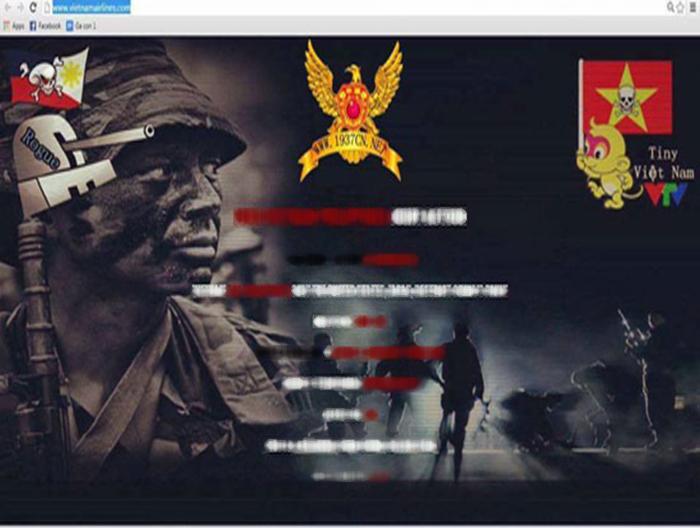 Website của Vietnam Airlines bị tấn công và chiếm quyền kiểm soát ngày 29-7 - Ảnh chụp màn hình
