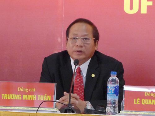 Thứ trưởng Trương Minh Tuấn: Không nên căn cứ theo thông tin trên mạng để suy diễn về công tác nhân sự Đại hội XII
