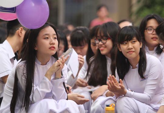 Học sinh Trường THPT Gia Định, Ảnh: Hoàng Triều