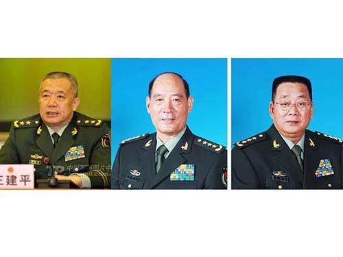 Từ trái qua: Các ông Vương Kiến Bình, Lý Kế Nại và Liêu Tích Long Ảnh: SOHU, SCMP