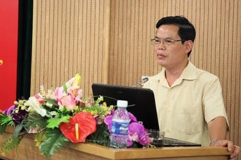 Ông Triệu Tài Vinh tại một cuộc họp ở tỉnh Hà Giang - Ảnh: Thành Long