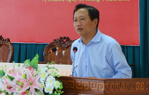 Ông Trịnh Xuân Thanh lúc còn đương chức Phó Chủ tịch UBND tỉnh Hậu Giang. Ảnh: TTXVN
