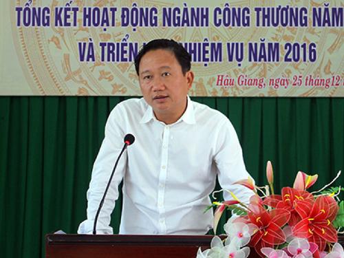 Ông Trịnh Xuân Thanh khi là Tỉnh ủy viên, Phó Chủ tịch UBND tỉnh Hậu Giang