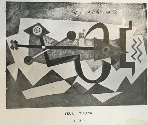 """Bức """"Trừu tượng"""" thật của họa sĩ Tạ Tỵ in trong cuốn sách """"Triển lãm Hội họa Tạ Tỵ"""""""