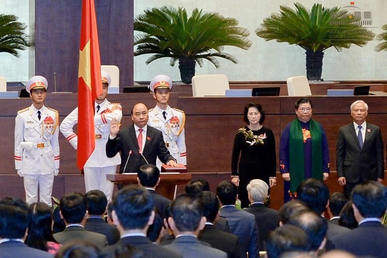 Thủ tướng Nguyễn Xuân Phúc tuyên thệ nhậm chức - Ảnh: Quochoi.vn