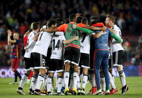 Valencia mừng chiến thắng ngay tại Nou Camp