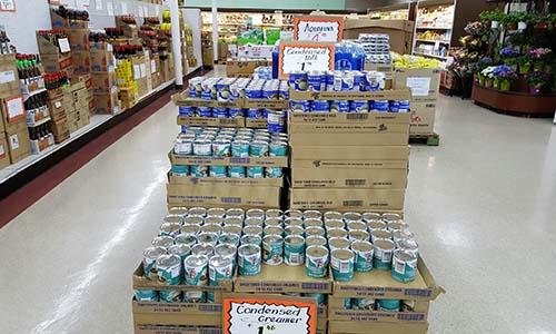 Sản phẩm Vinamilk được bày bán trong các siêu thị ở Mỷ
