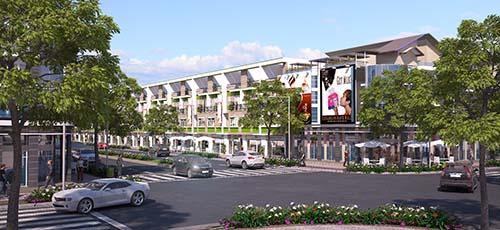 Phối cảnh khu nhà phố của dự án The Viva city