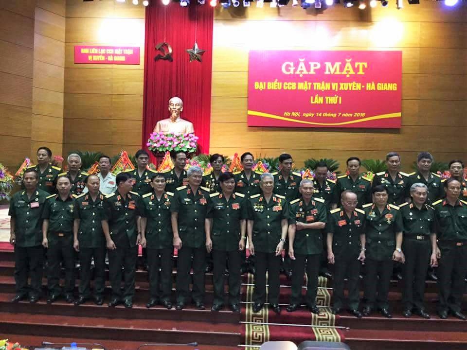 Ra mắt Ban Liên lạc Cựu chiến binh Mặt trận Vị Xuyên sáng 14-7 - Ảnh: Đình Thắng