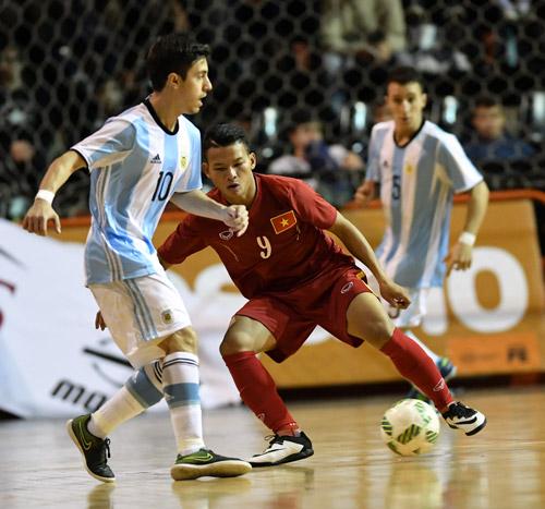 Tuyển futsal Việt Nam đá giao hữu với Argentina trước thềm World Cup
