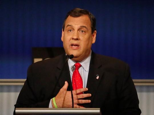 Thống đốc bang New Jersey Chris Christie. Ảnh: AP