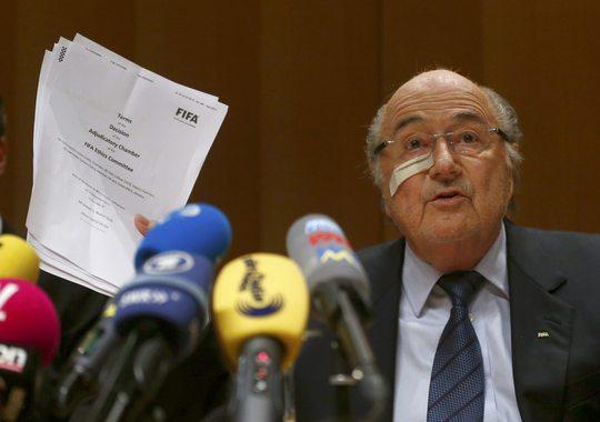 Ông Blatter tại phiên điều trần hôm 21-12