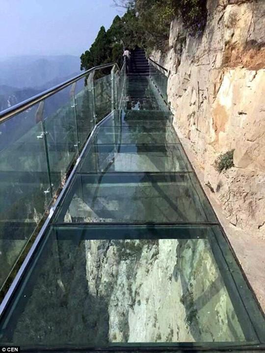 Trung Quốc: Cầu kính cao hơn 1 km bị nứt, du khách điếng hồn
