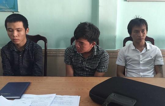 Trung, Thắng, Quang tại cơ quan điều tra